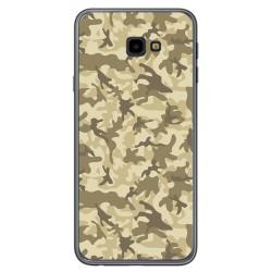 Funda Gel Tpu para Samsung Galaxy J4+ Plus Diseño Sand Camuflaje Dibujos