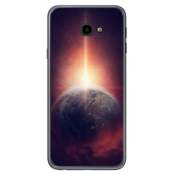 Funda Gel Tpu para Samsung Galaxy J4+ Plus Diseño Tierra Dibujos