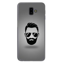 Funda Gel Tpu para Samsung Galaxy J6+ Plus Diseño Barba Dibujos