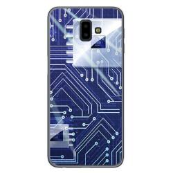 Funda Gel Tpu para Samsung Galaxy J6+ Plus Diseño Circuito Dibujos