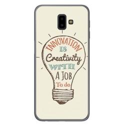 Funda Gel Tpu para Samsung Galaxy J6+ Plus Diseño Creativity Dibujos
