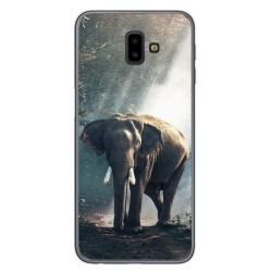 Funda Gel Tpu para Samsung Galaxy J6+ Plus Diseño Elefante Dibujos