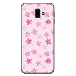 Funda Gel Tpu para Samsung Galaxy J6+ Plus Diseño Flores Dibujos