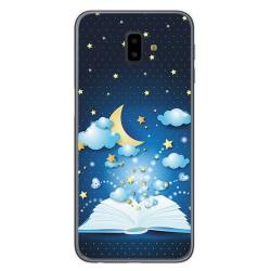Funda Gel Tpu para Samsung Galaxy J6+ Plus Diseño Libro Cuentos Dibujos