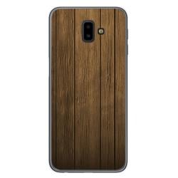 Funda Gel Tpu para Samsung Galaxy J6+ Plus Diseño Madera Dibujos
