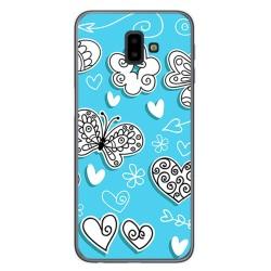 Funda Gel Tpu para Samsung Galaxy J6+ Plus Diseño Mariposas Dibujos
