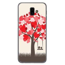 Funda Gel Tpu para Samsung Galaxy J6+ Plus Diseño Pajaritos Dibujos