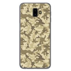 Funda Gel Tpu para Samsung Galaxy J6+ Plus Diseño Sand Camuflaje Dibujos