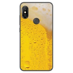 Funda Gel Tpu para Xiaomi Redmi Note 6 Pro Diseño Cerveza Dibujos