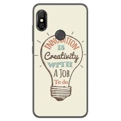Funda Gel Tpu para Xiaomi Redmi Note 6 Pro Diseño Creativity Dibujos