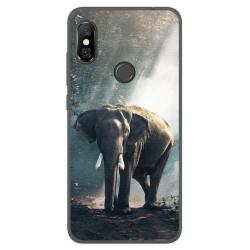 Funda Gel Tpu para Xiaomi Redmi Note 6 Pro Diseño Elefante Dibujos