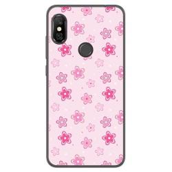Funda Gel Tpu para Xiaomi Redmi Note 6 Pro Diseño Flores Dibujos