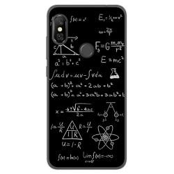 Funda Gel Tpu para Xiaomi Redmi Note 6 Pro Diseño Formulas Dibujos