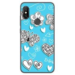 Funda Gel Tpu para Xiaomi Redmi Note 6 Pro Diseño Mariposas Dibujos