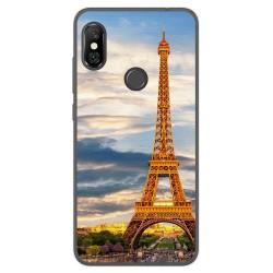 Funda Gel Tpu para Xiaomi Redmi Note 6 Pro Diseño Paris Dibujos