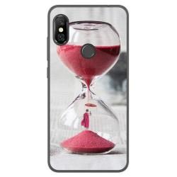 Funda Gel Tpu para Xiaomi Redmi Note 6 Pro Diseño Reloj Dibujos