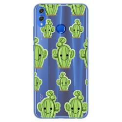 Funda Gel Transparente para Huawei Honor 8X Diseño Cactus Dibujos