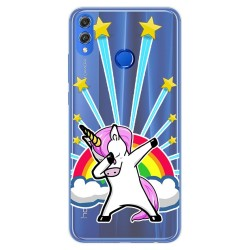 Funda Gel Transparente para Huawei Honor 8X Diseño Unicornio Dibujos
