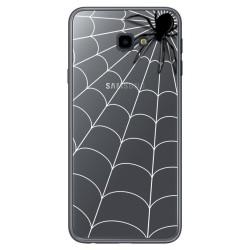 Funda Gel Transparente para Samsung Galaxy J4+ Plus Diseño Araña Dibujos