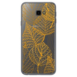 Funda Gel Transparente para Samsung Galaxy J4+ Plus Diseño Hojas Dibujos