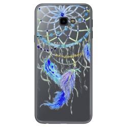 Funda Gel Transparente para Samsung Galaxy J4+ Plus Diseño Plumas Dibujos