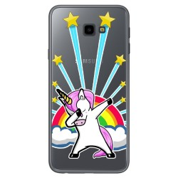 Funda Gel Transparente para Samsung Galaxy J4+ Plus Diseño Unicornio Dibujos