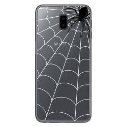 Funda Gel Transparente para Samsung Galaxy J6+ Plus Diseño Araña Dibujos