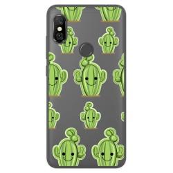 Funda Gel Transparente para Xiaomi Redmi Note 6 Pro Diseño Cactus Dibujos