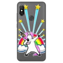 Funda Gel Transparente para Xiaomi Redmi Note 6 Pro Diseño Unicornio Dibujos