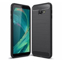 Funda Gel Tpu Tipo Carbon Negra para Samsung Galaxy J4+ Plus