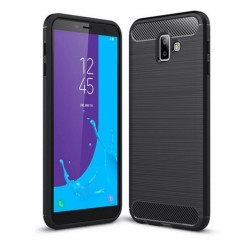 Funda Gel Tpu Tipo Carbon Negra para Samsung Galaxy J6+ Plus