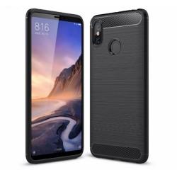 Funda Gel Tpu Tipo Carbon Negra para Xiaomi Mi Max 3