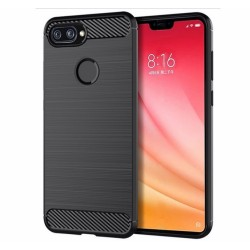 Funda Gel Tpu Tipo Carbon Negra para Xiaomi Mi 8 Lite