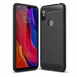Funda Gel Tpu Tipo Carbon Negra para Xiaomi Redmi Note 6 Pro