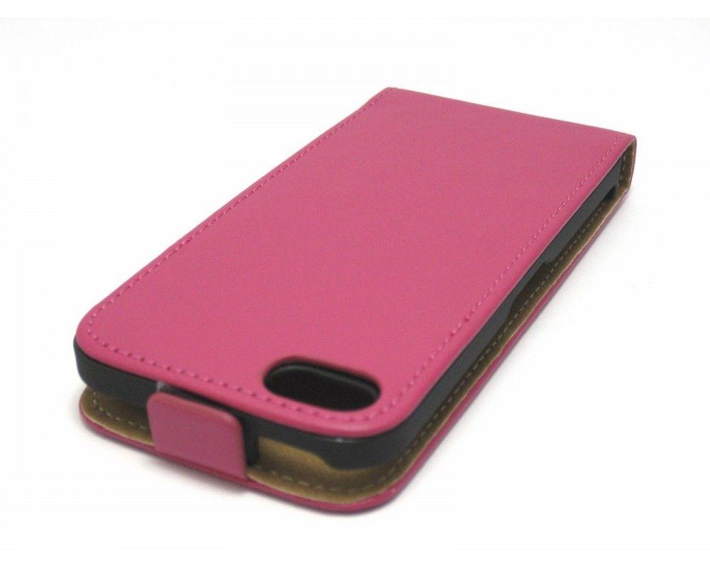 Funda Piel Premium Ultra-Slim Iphone 5C Rosa / Fucsia
