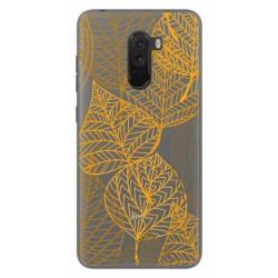 Funda Gel Transparente para Xiaomi Pocophone F1 Diseño Hojas Dibujos