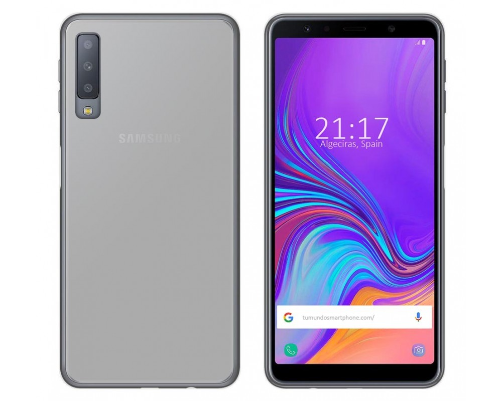 983ca23a5ea Funda Gel Tpu Silicona Transparente Samsung Galaxy A7 (2018) |Envio ...