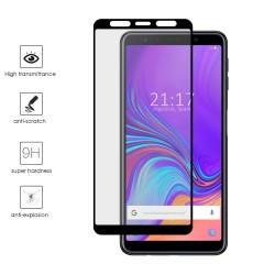 Protector Cristal Templado Frontal Completo Negro para Samsung Galaxy A7 (2018) Vidrio