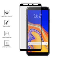Protector Cristal Templado Frontal Completo Negro para Samsung Galaxy J4+ Plus Vidrio