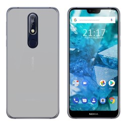 Funda Gel Tpu para Nokia 7.1 Color Transparente