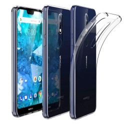 Funda Gel Tpu Fina Ultra-Thin 0,5Mm Transparente para Nokia 7.1