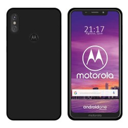Funda Gel Tpu para Motorola One Color Negra
