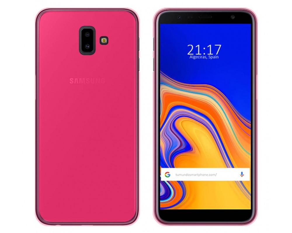 c7df13b3ce9 Funda Gel Tpu Silicona Rosa Samsung Galaxy J6+ Plus |Envio Gratis