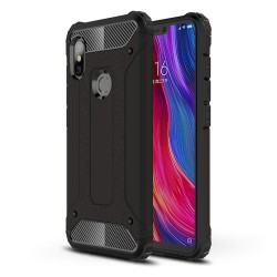 Funda Tipo Hybrid Tough Armor (Pc+Tpu) Negra para Xiaomi Redmi Note 6 Pro