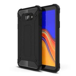 Funda Tipo Hybrid Tough Armor (Pc+Tpu) Negra para Samsung Galaxy J4+ Plus