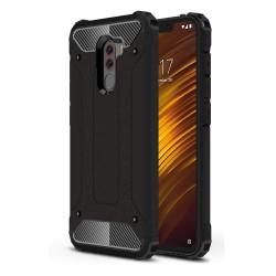 Funda Tipo Hybrid Tough Armor (Pc+Tpu) Negra para Xiaomi Pocophone F1