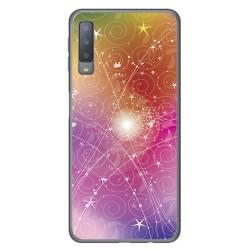 Funda Gel Tpu para Samsung Galaxy A7 (2018) Diseño Abstracto Dibujos
