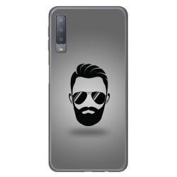 Funda Gel Tpu para Samsung Galaxy A7 (2018) Diseño Barba Dibujos