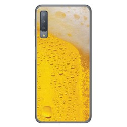 Funda Gel Tpu para Samsung Galaxy A7 (2018) Diseño Cerveza Dibujos