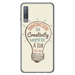 Funda Gel Tpu para Samsung Galaxy A7 (2018) Diseño Creativity Dibujos